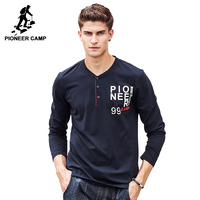 Pioneer Camp Long Sleeve T Shirt Men Brand Clothing High Quality New Arrival Spring Autumn Fashion