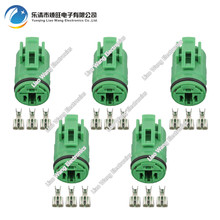 5 Sets 3 Pin Automotive Connectors Round Waterproof With Terminal Plug DJ70318-6.3-21 3P