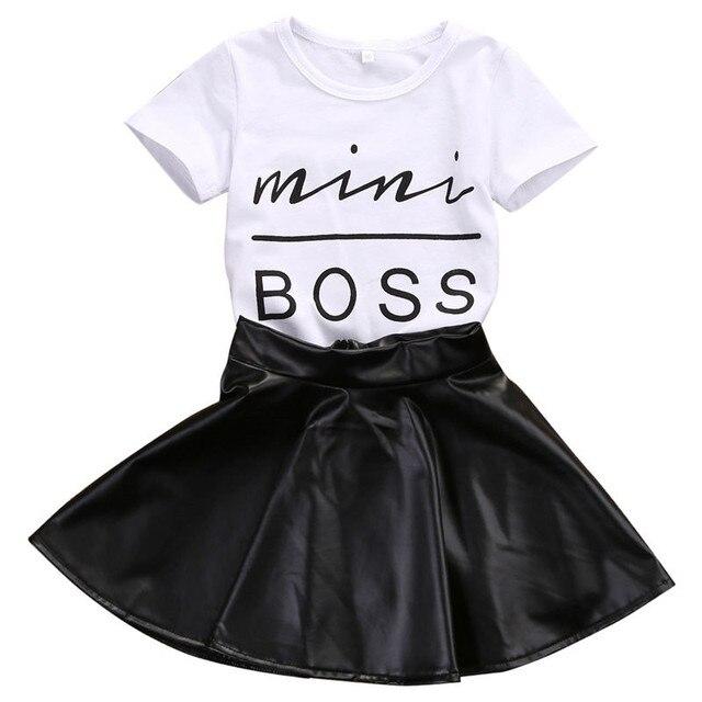 Новинка 2017 года модный комплект детской одежды для маленьких девочек  летняя футболка с короткими рукавами и a22f6a731b0
