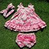 2016 Baby Summer Dress Baby Girl Swing Tops Swing Dress Pink Flower Swing Outfits With Matching