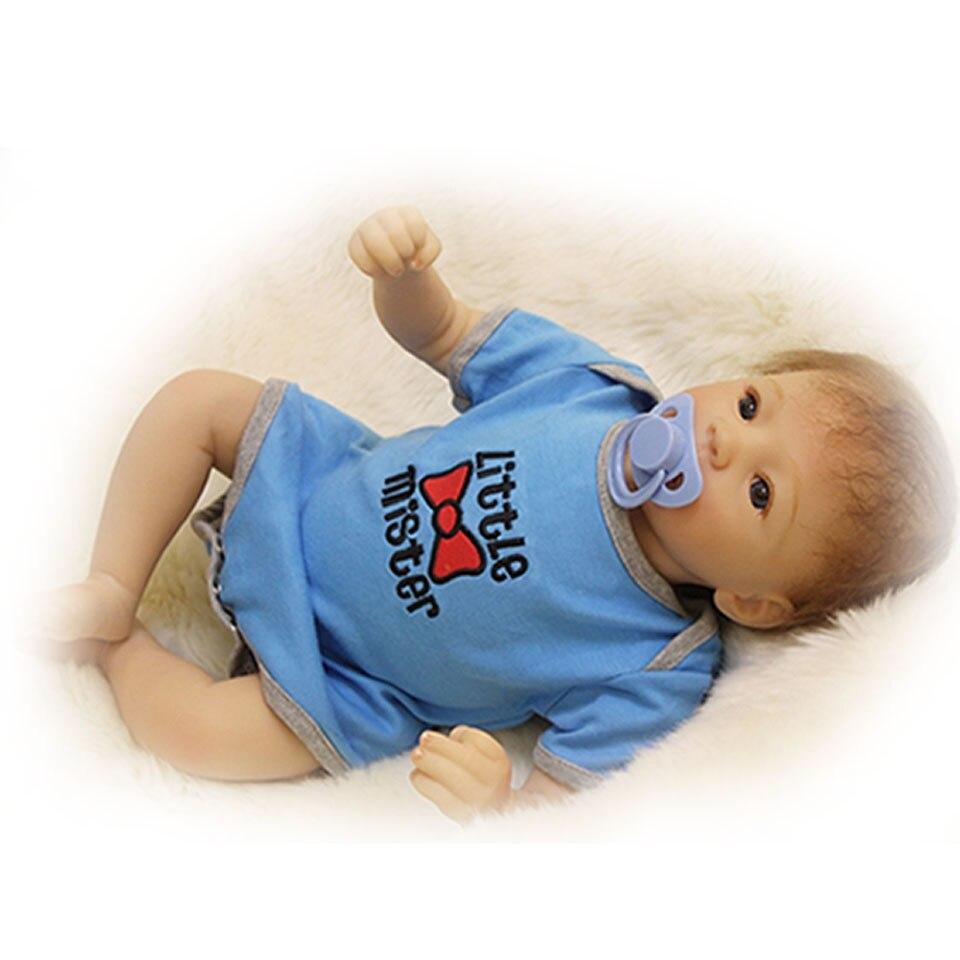 Модные Куклы Реалистичная Reborn младенцев 20 живой силиконовая так действительно маленьких Куклы безопасный комплекты игрушки, вещи ткань С...