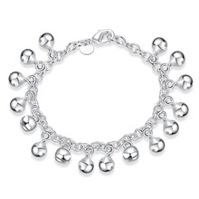New Fashion Jewelry Silver Plated Charm Bijoux Women s Tinkle Bell Pendants Bracelets Bangles For Children