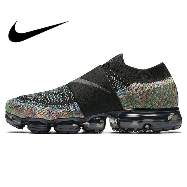 4aae96f0fa Original Authentic Nike Air VaporMax Moc Rainbow Cushion Men's Running  Shoes Sports Sneakers Outdoor Breathable durable AH3397