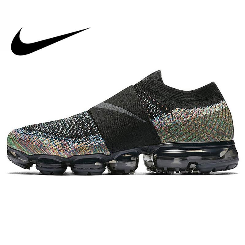 Original Et Authentique Nike Air VaporMax Moc Arc-En-Coussin Hommes de chaussures de course Sport Sneakers En Plein Air Respirant durable AH3397