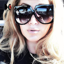 40ed72c964 SHAUNA Oversize Women Square Sunglasses Fashion Ladies Double Colors Frame  Gradient Lens Shades UV400