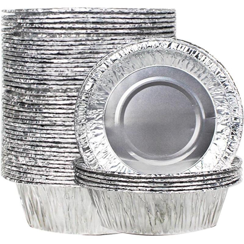 Bakhuk 50 Pcs Disposable Foil Pie Dish 13cm Baking Dishes