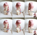 Free Shipping Final Fantasy FF13 Lightning Cheap Cosplay Costume Wig High Quality Beautiful Fashion Synthetic Hair Anime Wigs