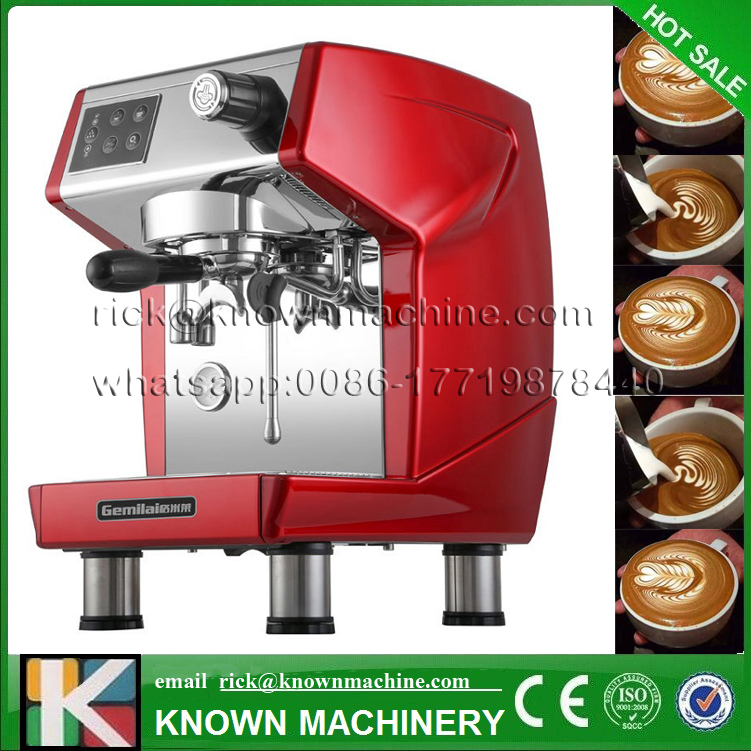 The new Italian commercial coffee machine is grinding concentrated semi-automatic pumped milk tea coffee shop equipment home intelligent fully automatic american style coffee machine drip type small is grinding ice cream teapot one machine