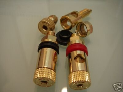 Громкоговоритель ламповый Усилители домашние золото винтовых клемм g