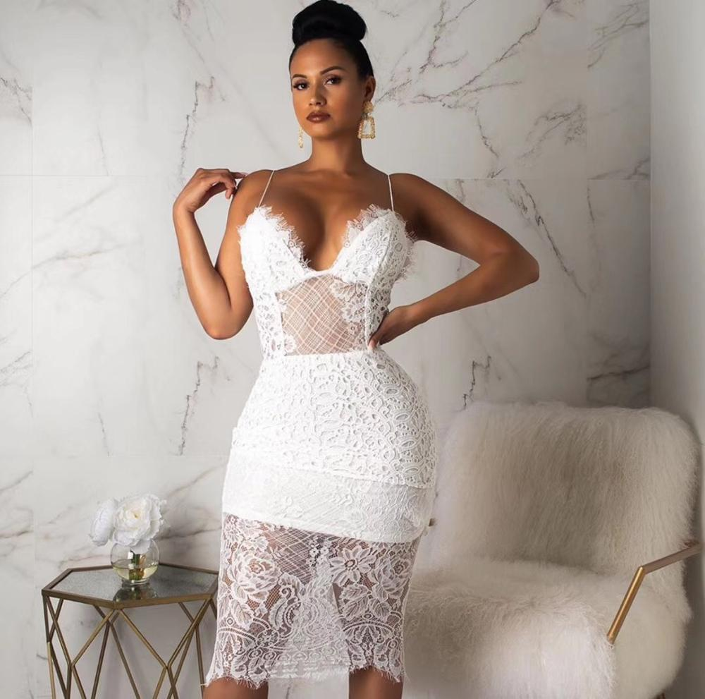 US $18.18 18% OFFNeue Mode stil Fashion Frauen Kleid Langarm Mini Spitze  VerbandkleidDresses - AliExpress