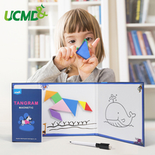 Magnetic Tangram Puzzle Jigsaw Educational Toy Intelligent Puzzles Drawing Board Kids Toys For Children Birthday Gifts mwz multifunctional drawing board wooden toys educational magnetic puzzle children kids jigsaw toys