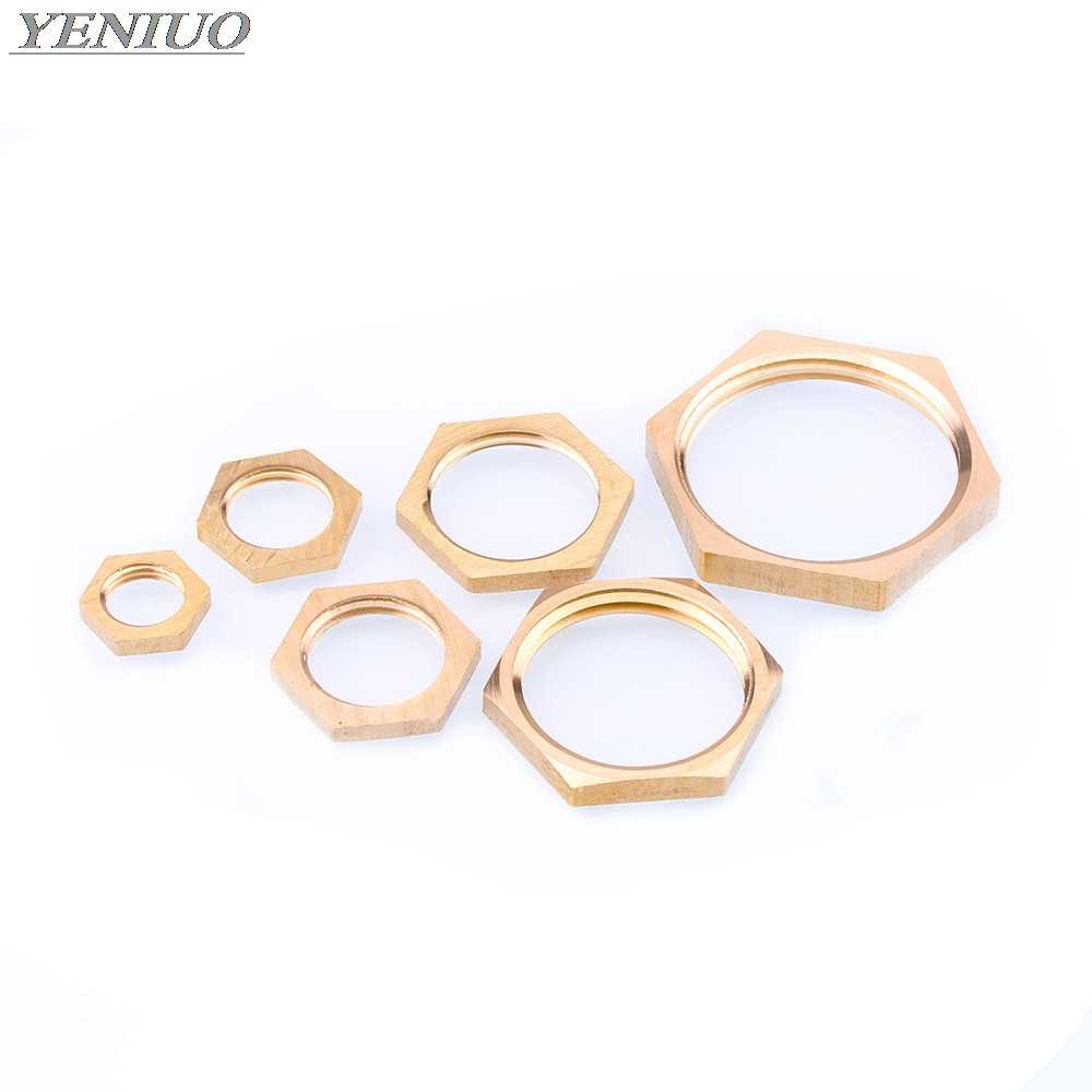 Color : With silicone, Size : M6 Pipes /& Hoses 20PCS 1//8 1//4 3//8 1//2 3//4 Female Thread Plastic Nuts Lock Nut Outer Hexagon Fastening Nut With Sealing Ring Tubes