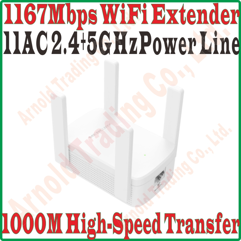 Best Single Universal WiFi Extender 1000Mbps Power Line Adapter Extender 2 4GHz 300M 5GHz 867M WiFi