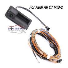 4G0827566A מצלמה אחורית תא מטען ידית עם מסלול עקבות לאאודי A6 C7 MIB 2 יחידה 4G0 827 566