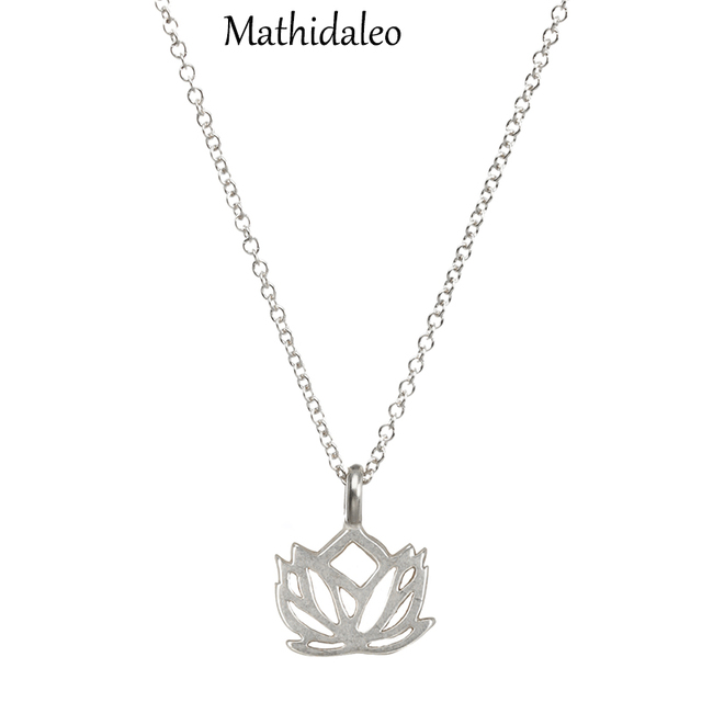 2015 New Arrival Gold Color Necklace New Beginnings Lotus Necklaces