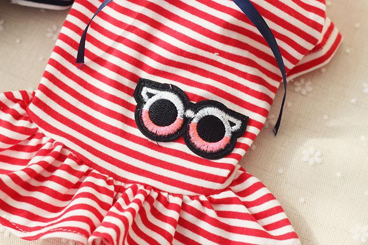 Prugasta luk ženski pas haljina odjeća za pse chihuahua medo pas - Kućni ljubimci - Foto 3
