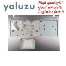 YALUZU NEW for Lenovo IdeaPad Z500 P500 손목 받침대 베젤 대문자 덮개 AM0SY000300 윗면 덮개 은색