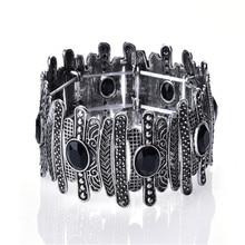 цены на Vintage Ethnic Silver Color Adjustable Bracelet For Women Fashion Jewelry 10 style Multicolor Crystal Gold Alloy Bracelet Men  в интернет-магазинах