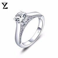 י. ל. 925 זוג טבעות הבטחת כסף סטרלינג לנשים וגברים גודל אצבע חתונת טבעת אירוסין יום נישואים תכשיטים 8
