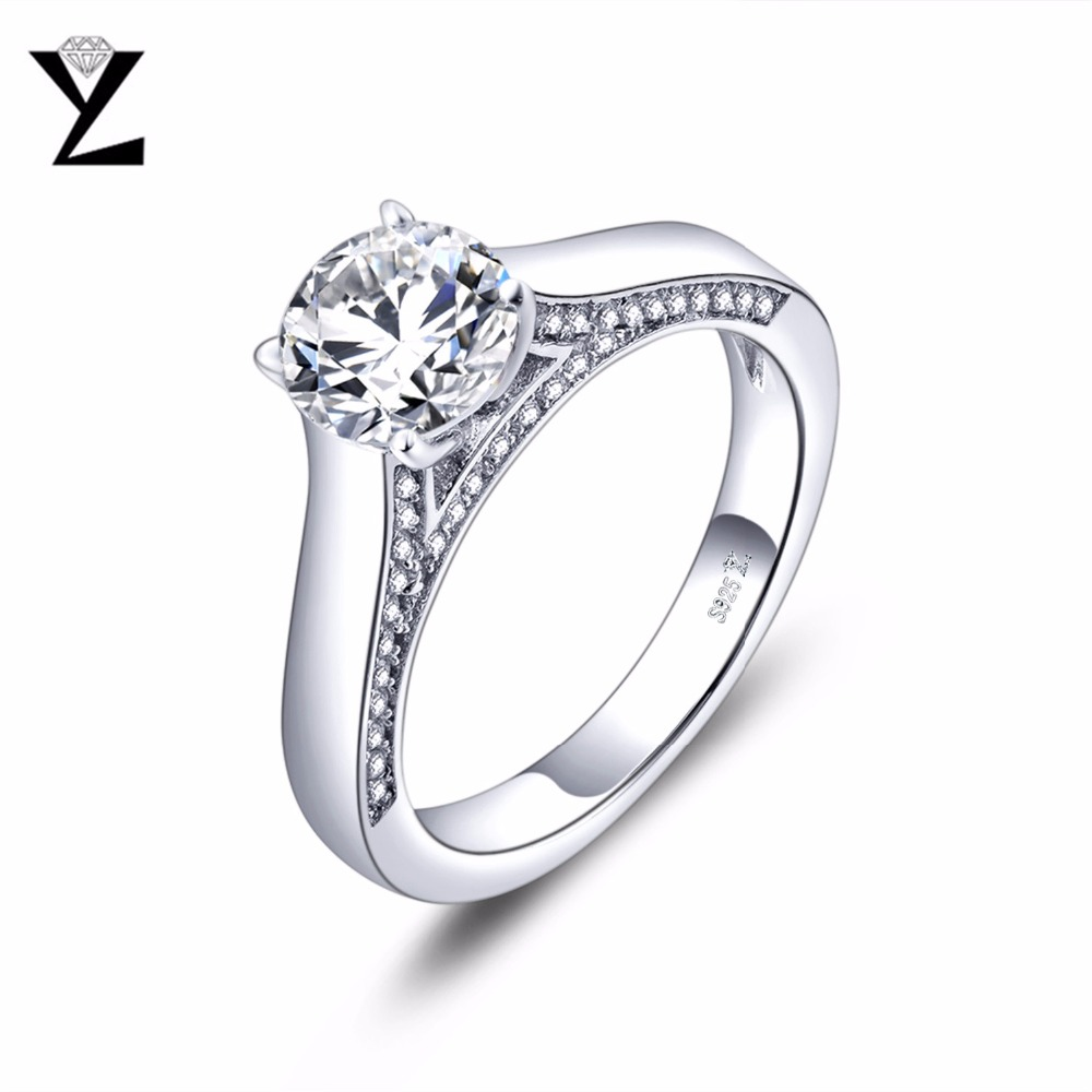 YL 925 Sterling Silver Promise Couple Rings for Women and Men Finger Fine Jewelry Anniversary Wedding Engagement Ring Size 8 gold and silver forever love steel couple ring for men 8 size