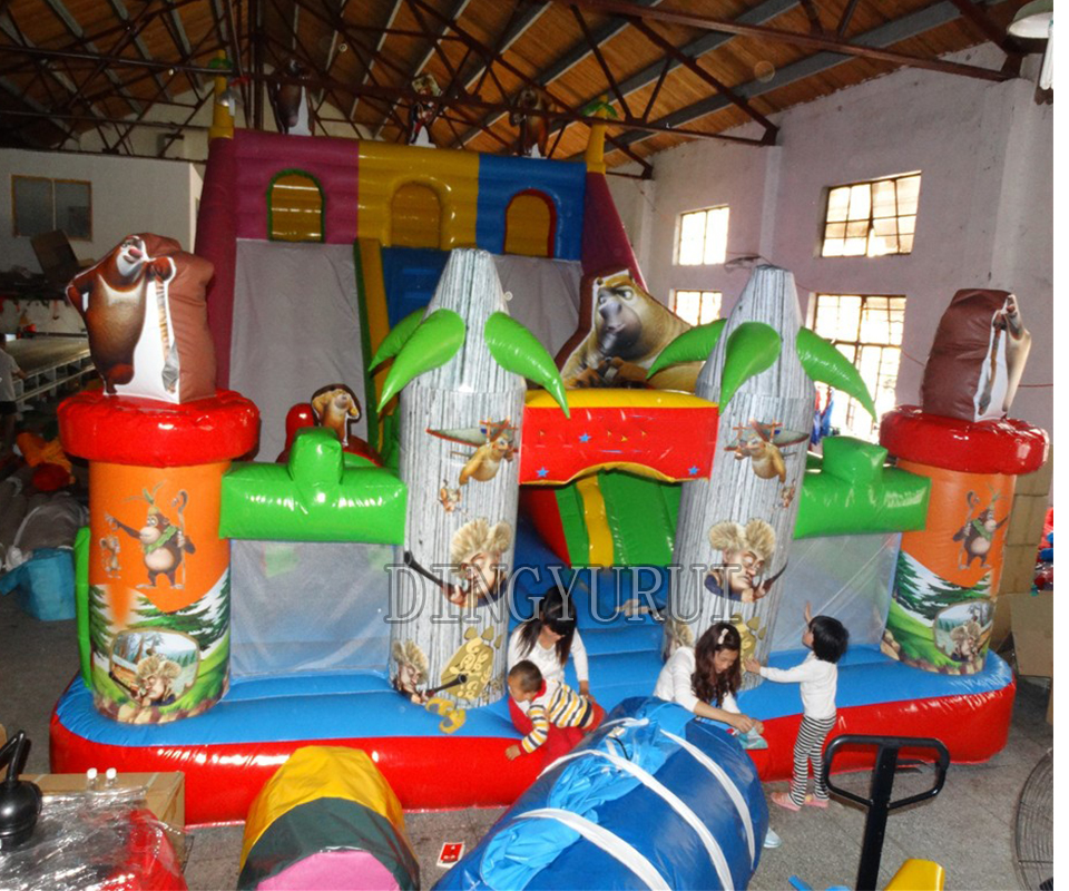 Inflatable play center kids outdoor playground center,inflatable bouncy castle, inflatable fun city for