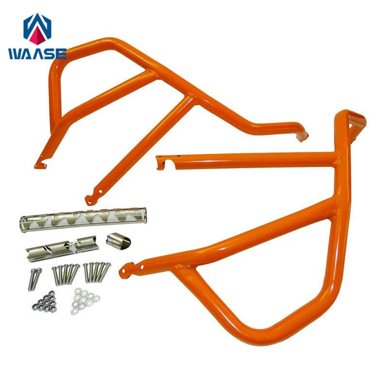 waase 1050 1190 ADV Motorcycle Engine Bumper Upper Guard Crash Bars Protector Steel For KTM 1050