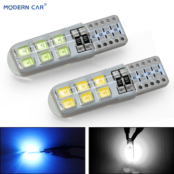 MODERN CAR 1pcs Signal Lamp 2835 T10 Led Car Lights Bulb For Auto 194 168 Led 12SMD W5W Lamps White Car Clearance Parking Light 10pcs car lights t10 led clearance lights w5w parking bulb white 6000k crystal blue 192 168 indoor light 12v car accessories