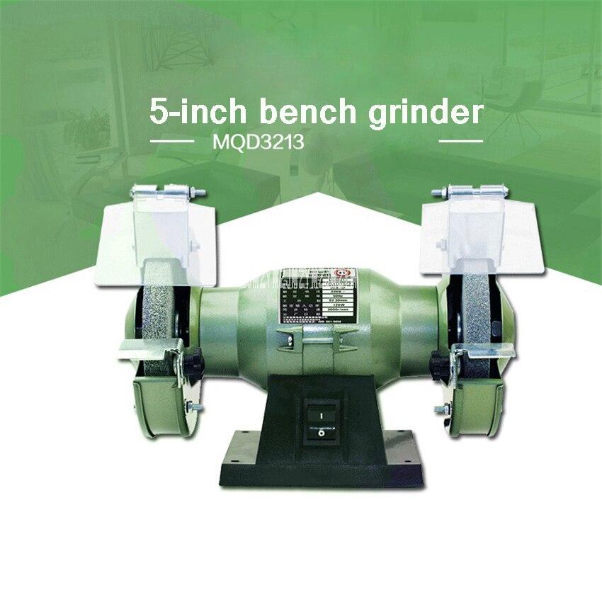 MQD3213 Multi-fonction Banc Grinder Électrique Couteau Aiguiseur 5-pouces Petit Polissage Meule Machine 220 v 120 w 3000r/min