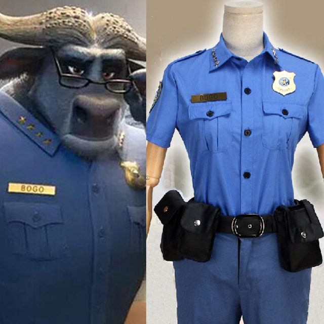 Cos ZOOTOPIA Chief Bogo Cosplay Costume Chief Bogo Buffalo Cos The Chief of  Police Suit Blue Male Movie 804381372675