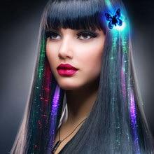 Светодиодный Aglimmer Красочные бабочки мигающие волосы оплетка для наращивания вспышки загорается