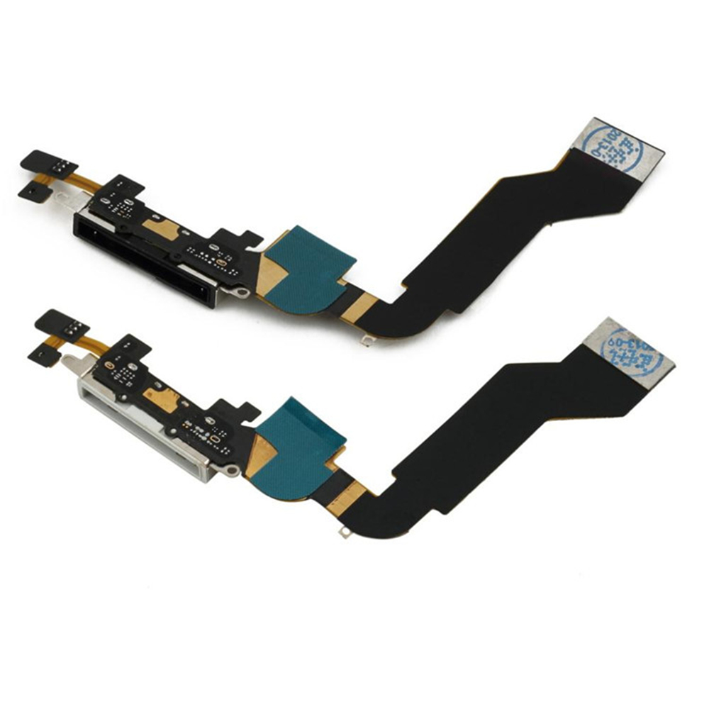 Original Charger Dock For Iphone 4s USB Charging Port Plug Flex Cable With Mic Microphone Replacement Repair Parts
