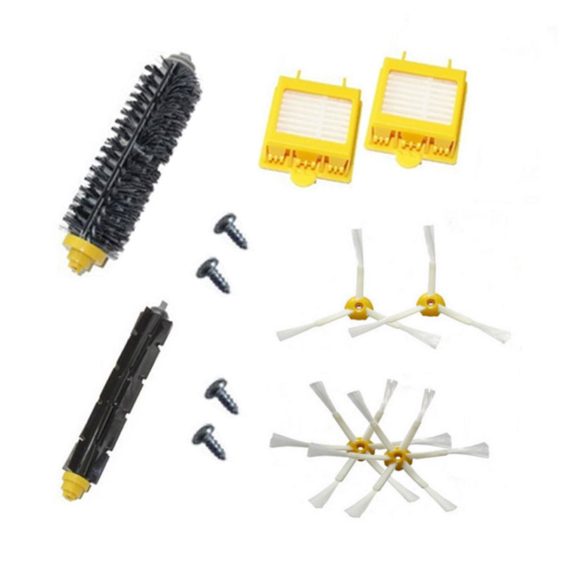 4 screw+2 Hepa Filter +4 Side Brush +1 set Bristle Brushes set for iRobot Roomba 700 Series Vacuum Cleaning Robots 760 770 780 7 14pcs free post new side brush filter 3 armed kit for irobot roomba vacuum 500 series clean tool flexible bristle beater brush