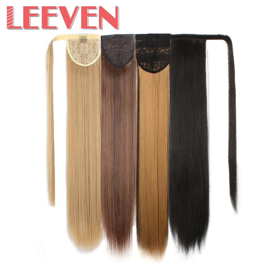 Hair Extensions & Wigs Soowee 24inch Long Straight Women Natural Black High Tempreture Synthetic Hairpiece Clip In Hair Extensions