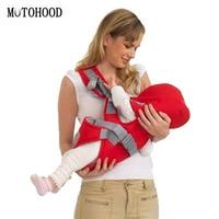 MOTOHOOD 0 36m Hooded Baby Carrier Breathable Multifunctional Horizontal Baby Sling For All Seasons Infant Kangaroo Bag|Backpacks & Carriers|   -