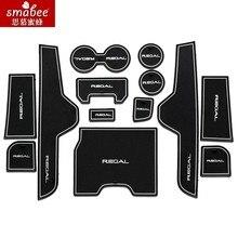 12 pcs/lot Pour Opel Insignia Regal 2013 2014 2015 Accessoires De Voiture, 3D En Caoutchouc Anti Slip Mat, Non-slip Tapis Intérieur Porte Pad Smabee