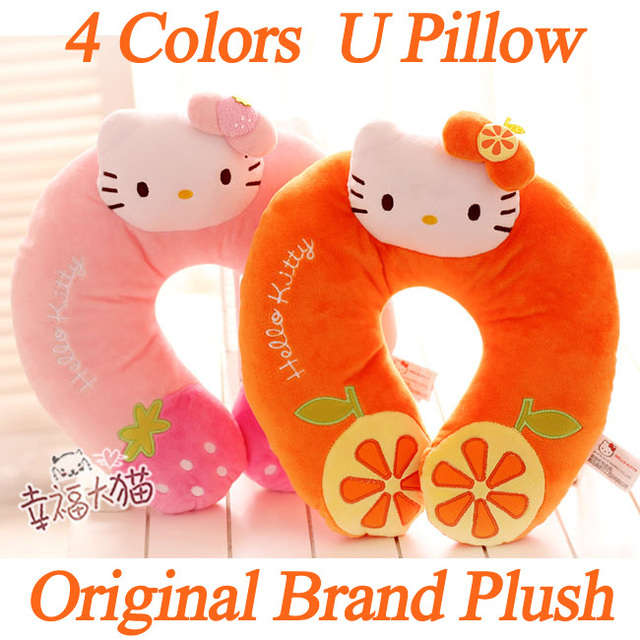 4Colors,30x28CM,1PC,Plush HelloKitty Neck Pillow For Travel Girl's Gifts,Wholesale,Drop Free Shipping