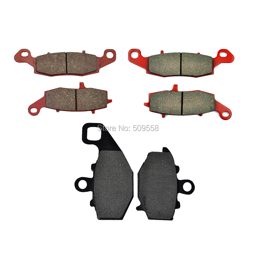 Complete Set of Motorcycle <font><b>Brake</b></font> <font><b>Disc</b></font> Pads for <font><b>Kawasaki</b></font> <font><b>Z750</b></font> ZR750 04-06 Z750S 05-10 KLE650 Versys 07-14 GPz1100 95-98 image