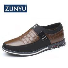 ZUNYU 2019 Nieuwe Big Size 38 48 Oxfords Lederen Mannen Schoenen Fashion Casual Slip Formele Zakelijke Trouwjurk schoenen Drop ShippingCasual schoenen voor Mannen