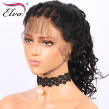 Elva Hair 360 Lace Frontal Wig Pre Plucked 180% Density Human Hair Wigs For Black Women Brazilian Remy Hair With Baby Hair