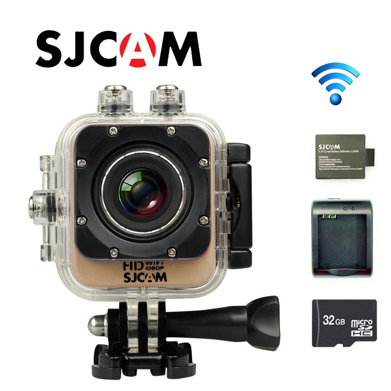 Free Shipping!! Original SJCAM M10 WiFi Full HD Sport Action Camera +Extra 1pcs battery+Battery Charger+32GB Class10 SD card free shipping original sjcam sj5000 sport action camerar car charger holder monopod extra 1pcs battery battery charge for camera