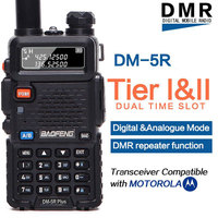 Baofeng DM 5R PLUS DMR Tier 1&2 Portable Radio Walkie Talkie Digital & Analogue Mode DMR Repeater Function Compatible with Moto