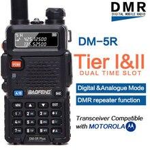 Baofeng DM-5R плюс DMR Tier 1 и 2 портативный радио двухканальные рации цифровой аналоговый режим DMR ретранслятор функция Совместимость с Moto