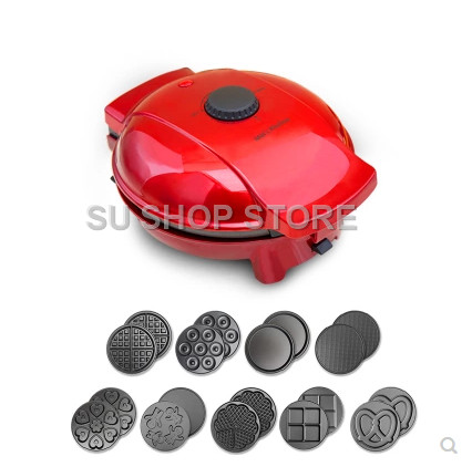 220V Full automatic Multifunctional Household Electric Waffle Maker Egg Ball Maker Muffin Machine With 10 Optional Plates