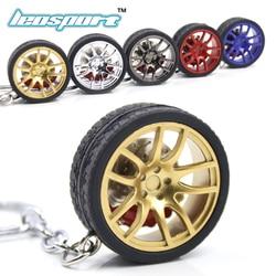 LEOSPORT-RIM Nn Turbo chaveiro chave anel de metal keychain da roda de roda de Carro com discos De Freio 002