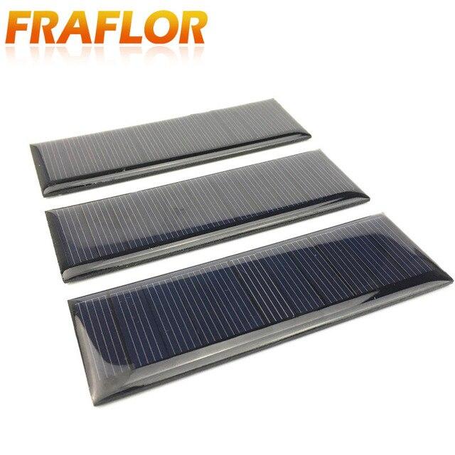 10 Pcs Solaire Bricolage Panneau Photovoltaique Solaire Torche Cellulaire Chargeur Lampe Sun Power Chargeur Solaire 90 30mm 5 5 V 65ma Dans Cellules