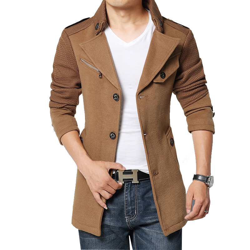 Popular Single Breasted Peacoat-Buy Cheap Single Breasted Peacoat