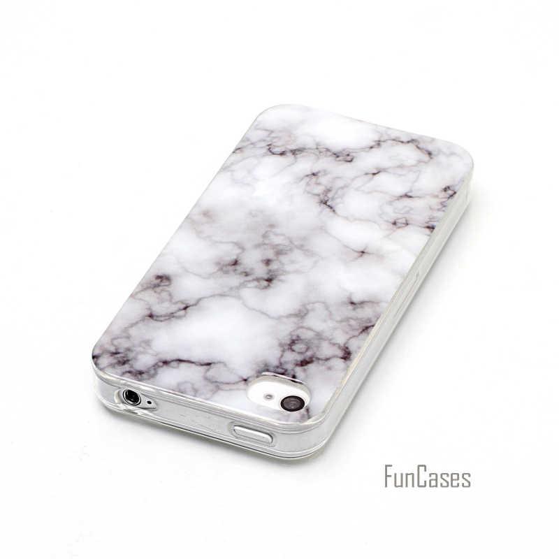 ل فون 4 حالة تغطية حالة لينة سيليكون ل فون 4 ثانية حجر الرخام صورة نمط رسمت الغطاء الواقي شل