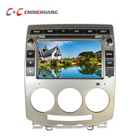 Video output Real Car DVD Player for Mazda 5 Radio Head Unit with GPS Navigation Stereo Audio Video System Reverse Camera input
