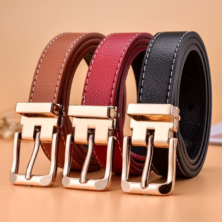 2019 Brand Designer Luxury Kids Belt Strap Hight Quality Child Pu Leather Children Belt Boys Girls Pin Buckle Pants Belts(China)