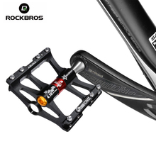 цена на ROCKBROS Mountain Bike Bicycle Pedals Cycling Ultralight Aluminium Alloy 4 Bearings MTB Pedals Bicicleta Bike Pedals Flat BMX